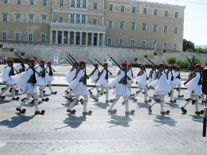 Changing Of The Guards Greece Athens Greek Parliament Greek People Sightseeing Traveling Travel Globetrotter Holiday Summer National Costume Tradition Greek Culture Culture Syntagma Square