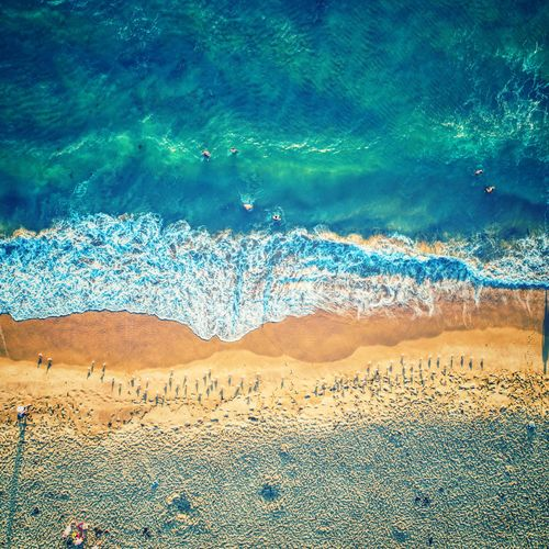 South Cronulla Water Sea Nature Land Beauty In Nature Beach Scenics - Nature Day No People Motion High Angle View Aerial View Tranquility Sand Environment Outdoors Sport Sunlight Landscape Turquoise Colored