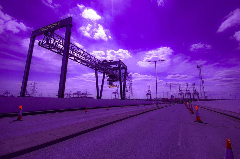 Blue Cloud Cloud - Sky Cloudy Crane - Construction Machinery Development Illuminated Industry Nature No People Outdoors Sky Southampton Docks Sunbeam The Way Forward Weather