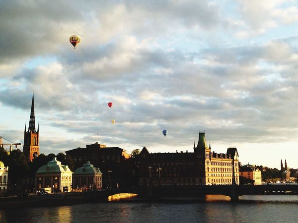 Stockholm Sweden Architecture Hot Air Balloon Waterfront