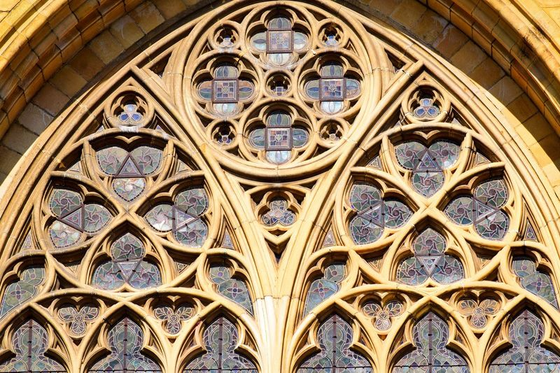 Architecture Window Rose Window History Built Structure Place Of Worship Low Angle View No People Day Close-up Religion Religious Architecture Cathedral Bayonnecathedral