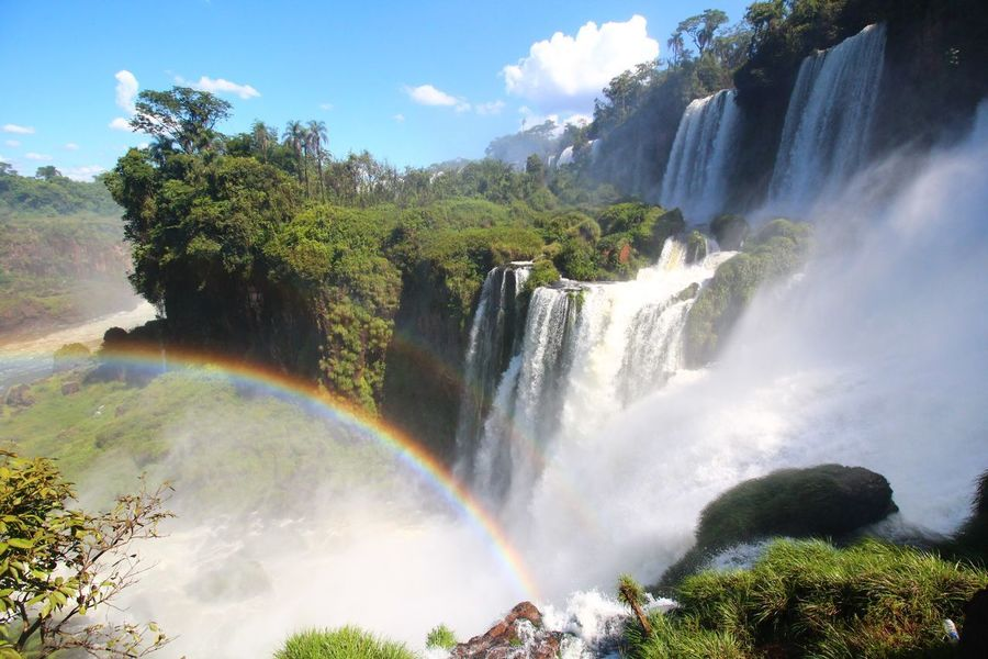 Iguazú Iguazu Falls Iguazu 🌈🔆 Iguazu National Park Waterfall Rainbow Water Tree Motion River Outdoors Scenics Cloud - Sky Travel Nature No People Beauty In Nature Day Beauty Sky