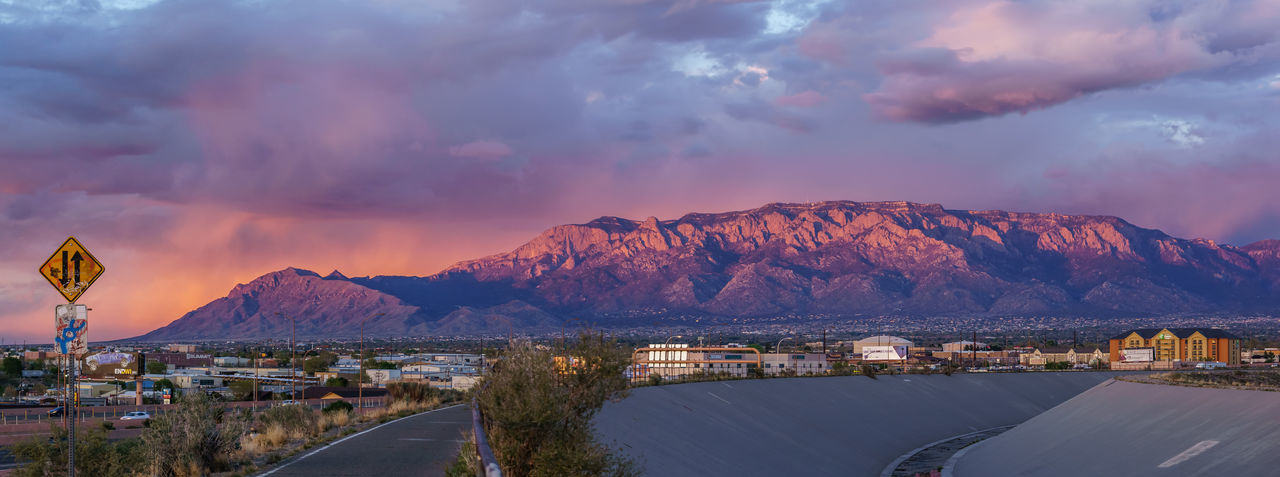 Albuquerque Landscape Mountain Mountains At Sunset Nature New Mexico Outdoors Sandia Mountains Scenics Sunset
