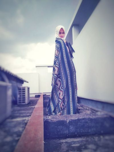 Tenun Indonesia Women Around The World Women Who Inspire You Women Of EyeEm Tenun Ikat Indonesia Fashion Stories One Person People Day Standing Outdoors Sky