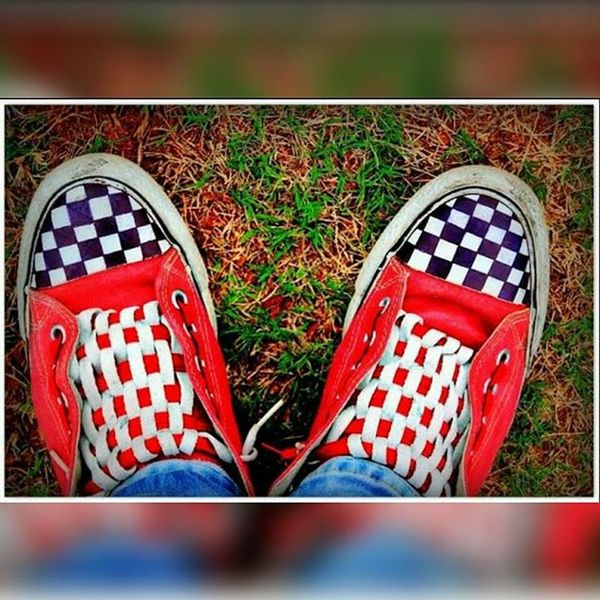 MyConverse Lacedanddesigned Checkerboardlacing Checkerboardpattern Proudtodesignmyownshoes ©opyright AllRightsReserved Ownthought
