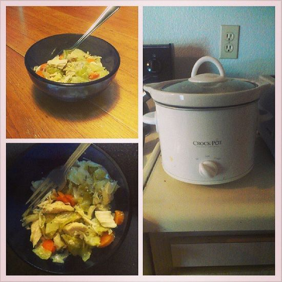 I #slowcooked a nice #soup for #dinner of #chicken, #carrots, and #cabbage. It turned out fantastic. #lowcarb #lowcalorie #lowfat #healthyfood Dinner Soup Chicken Cabbage Lowcarb Carrots Healthyfood Lowfat Crockpot Lowcalorie Slowcooker Slowcooked