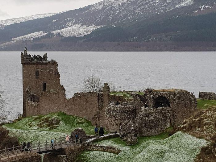 Castle Castle Ruin UrquhartCastle Loch Ness History High Angle View Outdoors Sea Landscape Travel Destinations Day Architecture Built Structure Tourism Ancient Nature Building Exterior
