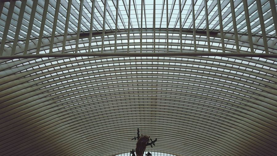 Wow. Station Luik, of Liège-Guillemins. Mooi! Pattern No People Architecture Train Station Railroad Station Lines&Design Liège-guillemin