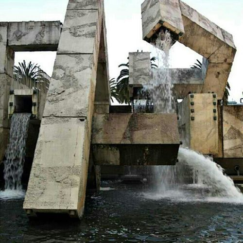 """Part of Vaillancourt Fountain for """"A Shift in Power"""" photo contest. @barbicancentre Everythingwasmoving"""