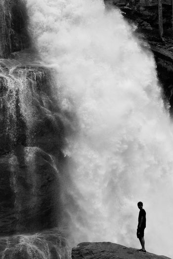 Body Of Water Day Men Nature One Man Only One Person Outdoors Real People Standing Water Waterfall