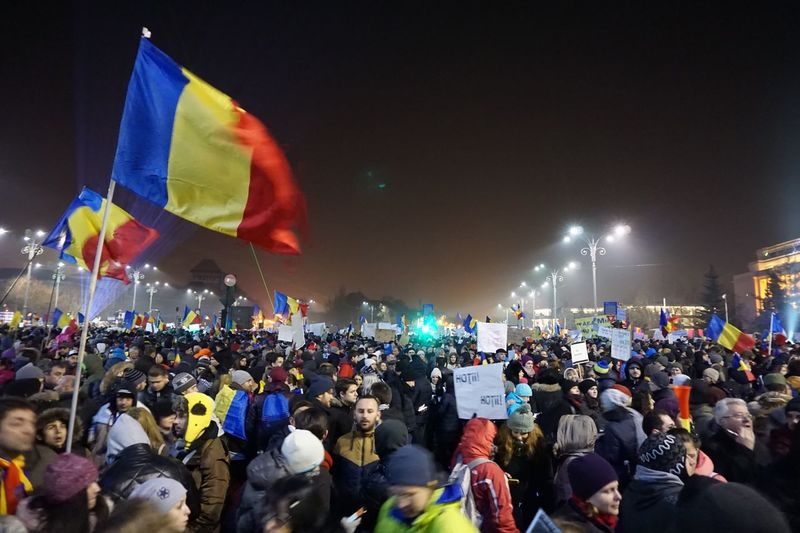 Romania Proudofmypeple Flag Multi Colored Large Group Of People Real People Patriotism Night Unity Sky Outdoors People Adult