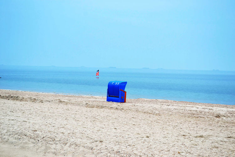 Beach Beauty In Nature Blue Clear Sky Copy Space Day Föhr GERMANY🇩🇪DEUTSCHERLAND@ Multi Colored Nature Northsea Outdoors Remote Sand Scenics Schleswig-Holstein Sea Shore Solitude Strandkorb Tranquil Scene Tranquility Vacations Water