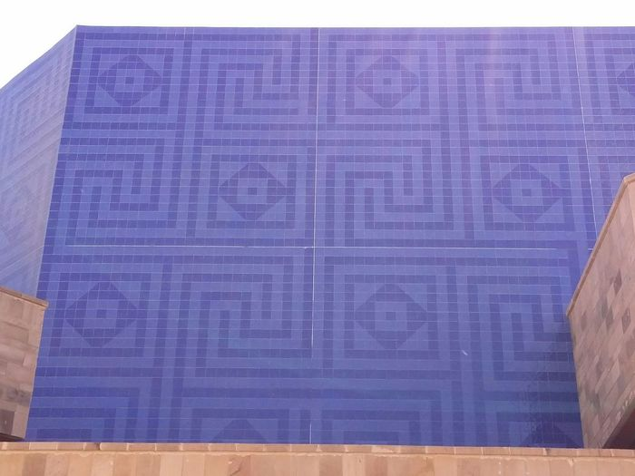Cobalt Blue By Motorola The Places I've Been Today AUC Blue Building Blue Sky Cairo Egypt