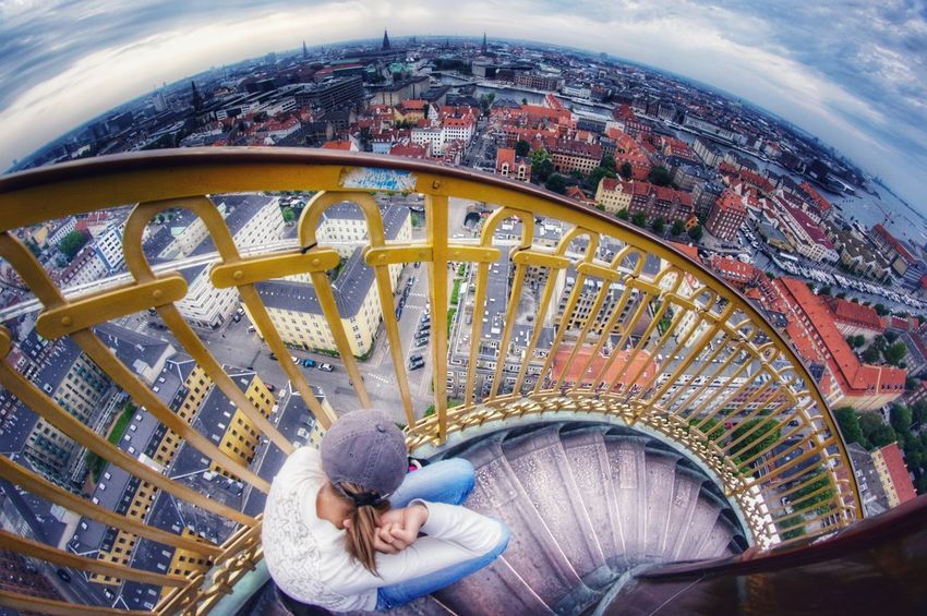 my favorite view from my favorite walk in my favorite town Cityscape City Life Copenhagen, Denmark Copenhagen The Week on EyeEm City Fish-eye Lens Multi Colored Sky Architecture Carousel Urban Scene #urbanana: The Urban Playground
