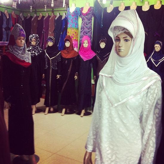 Hijab on display at shopping mall in Chittagong. Js Photographer Hijab Displlay Shoppingmall Mannequin IPhone Insta Photojournalism Documentary Opensociety Reportagespotlight Chittagong Bangladesh Chottogram Instagram Everydaybangladesh
