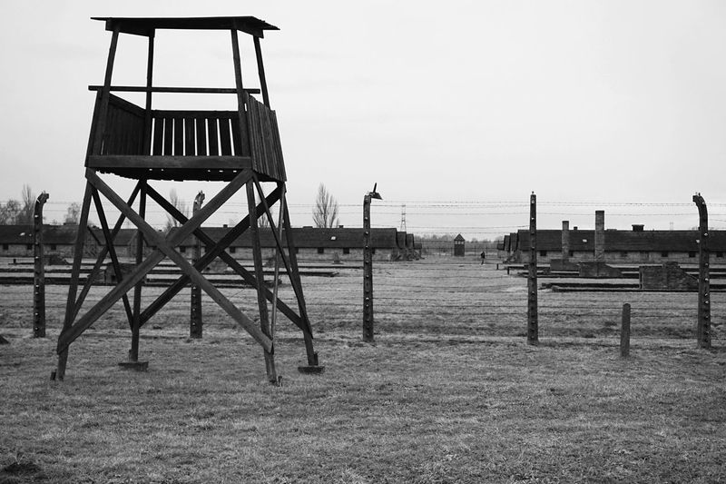 Concentration Camp Terrible Moment Deathly History Sea Beach Safety Lifeguard Hut Water Protection Sky Lookout Tower Tranquility Grass Scenics Built Structure Day Tranquil Scene No People