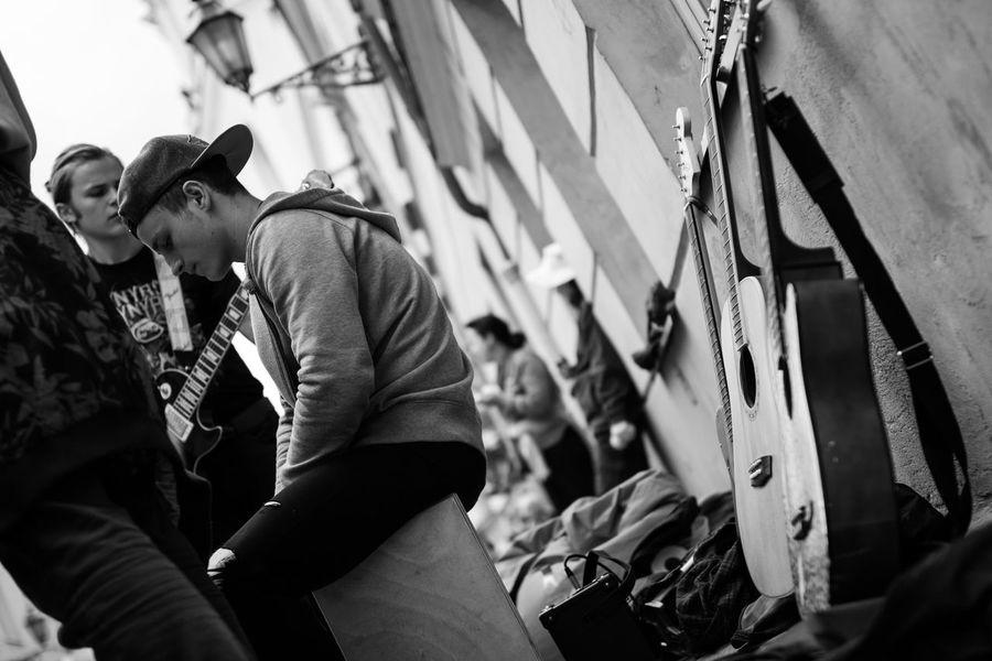 The Photojournalist - 2016 EyeEm Awards Lithuania Street Photography Streetphotography The Street Photographer - 2016 EyeEm Awards Street Musicians Vilnius City Vilnius Streetphoto_bw People Around You Street Music Day Streetmusic Musicians Musicianlife Guitars