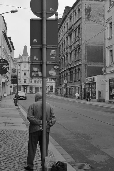 City City Life Day Leipzig Men Old Old Buildings Old Men One Man Only One Person Only Men Outdoors People Person Real People S/w Trzoska