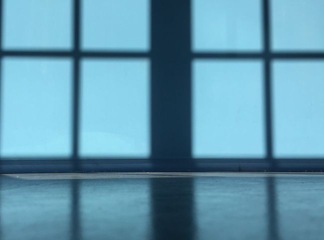 Blue Full Frame Indoors  Pattern Shadow Window Window Sill