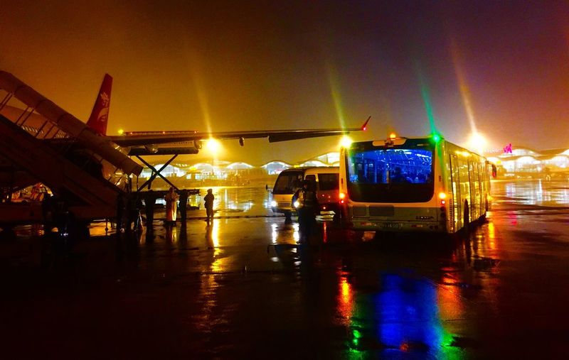 Go home. Colors Lifestyles Airport Transportation Illuminated Night Water Mode Of Transportation Reflection Sky Lighting Equipment Travel Connection Land Vehicle