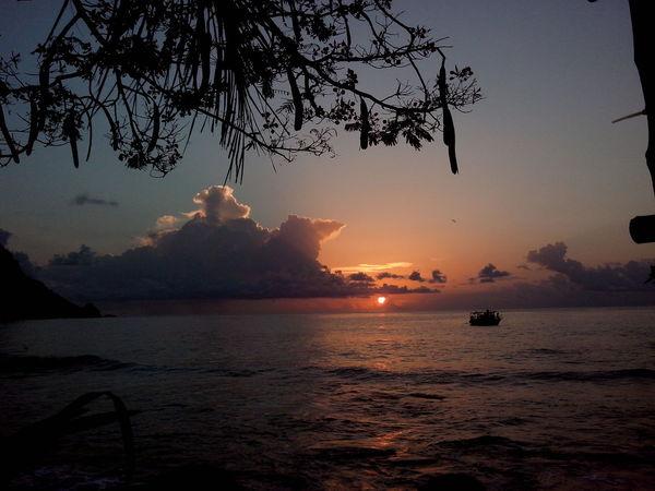 Sunset Conceição Beauty Tourism Tranquility Travel Destinations Beach Sky Silhouette Nautical Vessel