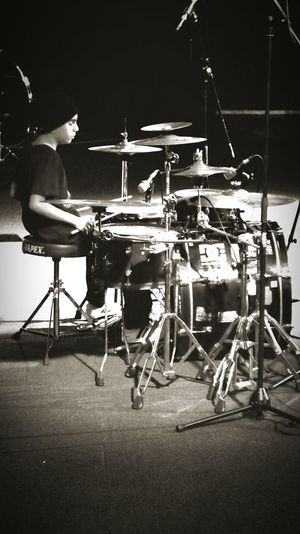 Moments LITTLE DRUMMER BOY Dad And Son Musician Live Music Black And White 8 Year Old Passionate Feeling Inspired Inspirational
