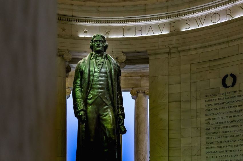 Thomas Jefferson Thomas Jefferson Architecture Built Structure History Human Representation Sculpture No People The Past Representation Statue Art And Craft Male Likeness Travel Destinations Travel Craft Indoors  Creativity Architectural Column Tourism Memorial Government