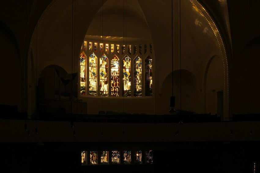 Indoors  No People Church Churchwindow Light Nightphotography Available LightLongTerm Long Exposure Longexposure Light Effect Nachtfotografie Langzeitbelichtung Kirchenfenster