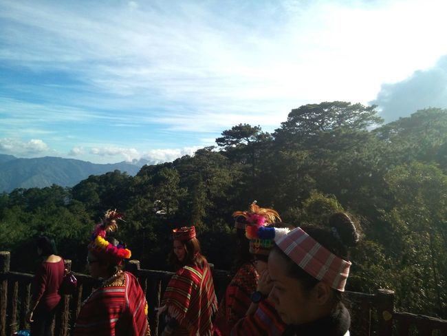 Igorot costumes . Mountain View Mountains And Sky View From Above Viewdeck