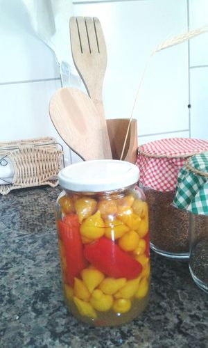 Fruit Indoors  Healthy Eating No People Jar Food Wooden Spoon Freshness Day Peppers Peperoncino Peperoncinipiccanti Peperoncino Piccante Food Photography Outdoors Photograpghy  Kitchen Kitchen Decoration