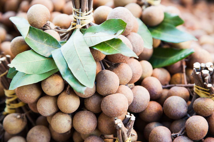Close-up of longan fruits for sale at market
