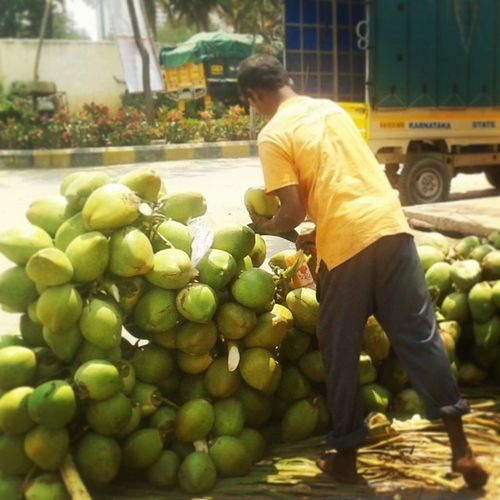 Nothing can beat Daab during the Frisky Summer of @Bangalore City . Green Coconuts
