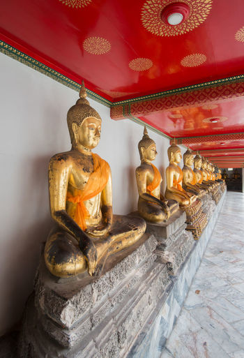 Wat Pho , temple in Bangkok , Bangkok ,Thailand Art Art And Craft Buddha Creativity Gilded Gold Golden Color Human Representation Idol Indoors  Place Of Worship Red Religion Sculpture Spirituality Statue Temple - Building