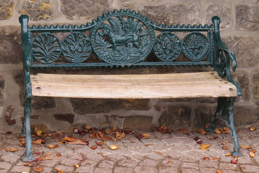 Autumn Beautiful Bench Coloured Leafs Day No People Outdoors Wood - Material