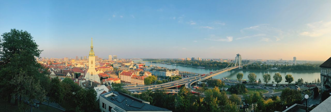European cities Bratislava, Slovakia Travel Destinations Travel Photography European City Eastern Europe Urban Photography Sky Architecture City Built Structure Plant Tree Cityscape High Angle View Nature Water Panoramic No People Cloud - Sky Outdoors Travel