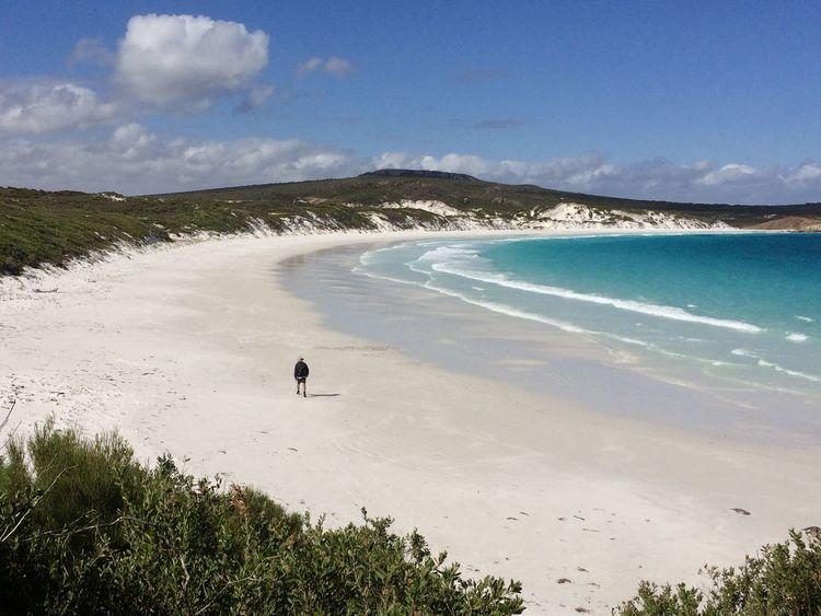Beach Life EyeEmNewHere Isolated West Australia Coastal Vegetation Figure Walks Along Beach Pristine Beach Travel Destinations Turquoise Sea