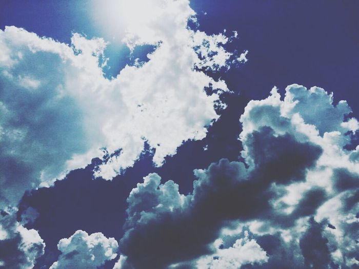 Tranquility Sky Blue Beauty In Nature Nature Sunlight No People