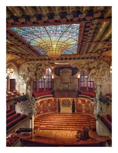 Palais de la musique Barcelone Barcelona Architecture Built Structure Indoors  Steps Illuminated No People Travel Destinations