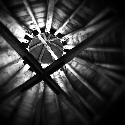 Dovecote Monochrome Blackandwhite Iphone6plus Snapseed Roof Wood Rafter
