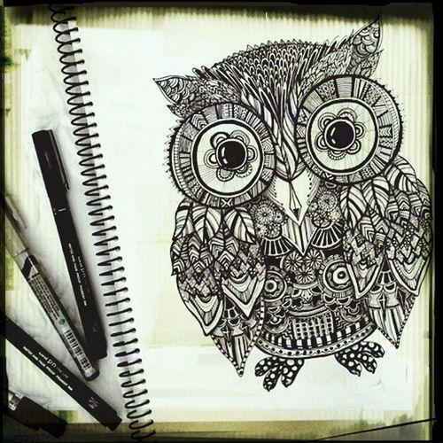 Art Gufo We Heart It Animale Disegno