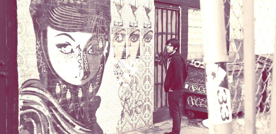 Shepard Fairey OBEY Streetart/graffiti Downtown LA Streetphotography
