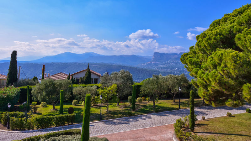 Architecture Beauty In Nature Building Exterior Built Structure Cloud Cloud - Sky Clouds And Sky Day France French Riviera Horizon Over Water Landscape Mountain Mountain Range Nature No People Olive Tree Outdoors Pine Tree Scenics Sky Tranquil Scene Tranquility Tree