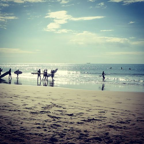 Surf Beach Sea Sand Horizon Over Water People Outdoors Summer Vacations Waves, Ocean, Nature Wave Surfing Taghazout Taghazout Surfing Sommergefühle
