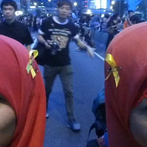 Yellow ribbon HongKongers Pro_democratic Yellow_ribbon