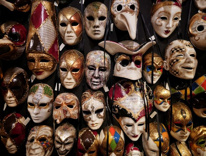 Art Venezia Italy Backgrounds Full Frame Market Choice Retail  Variation Collection For Sale Store Market Stall Venetian Mask Shop Shelves Carnival Mask Carnival - Celebration Event Festival