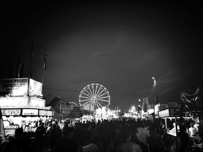 Newjerseystatefair Blackandwhite Ferris Wheel