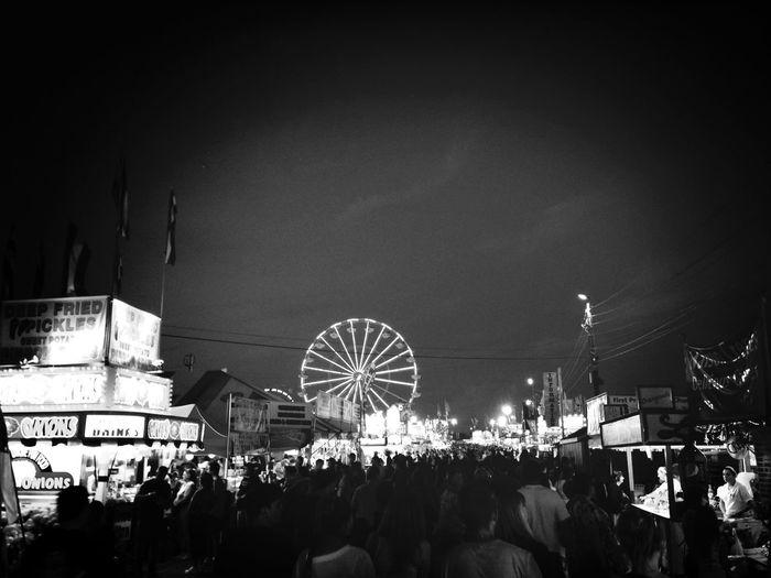 Newjerseystatefair Blackandwhite Ferris Wheel
