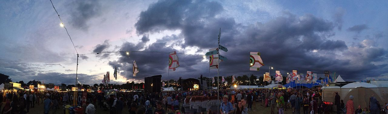 Womad 2016 panorama Large Group Of People Crowd Celebration Event Performance Cloud - Sky Illuminated Sky Enjoyment Atmosphere Music Music Festival Festival