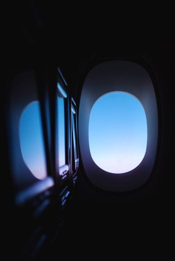 Traveling Window Seat Window Reflections Window View Sunrise_sunsets_aroundworld Sunset_collection Airplane Vehicle Interior Airplane Transportation Window Sky Mode Of Transportation Air Vehicle Travel Clear Sky Public Transportation Glass - Material Indoors  Transparent Blue