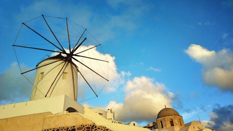 || Nature Theories || Santorini, Greece. TheFoneFanatic Nokia  Nokia808 Vacations Mobilephotography PhonePhotography Scenics Sunset Nature Skyscape Windmill Traditional Windmill Sky Architecture Cloud - Sky Historic